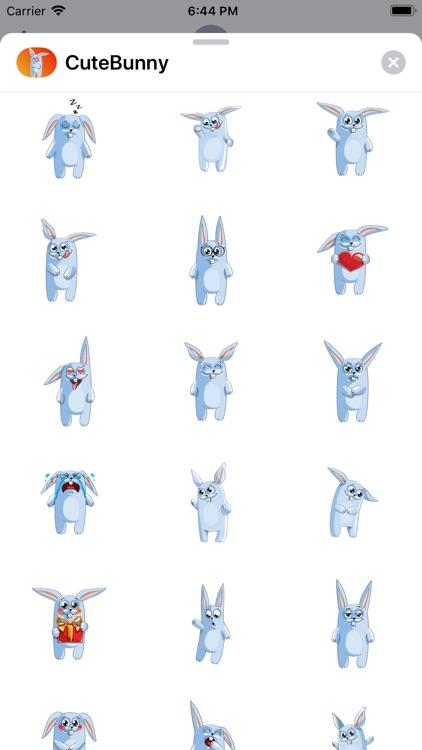 Cute Bunny Sticker fc