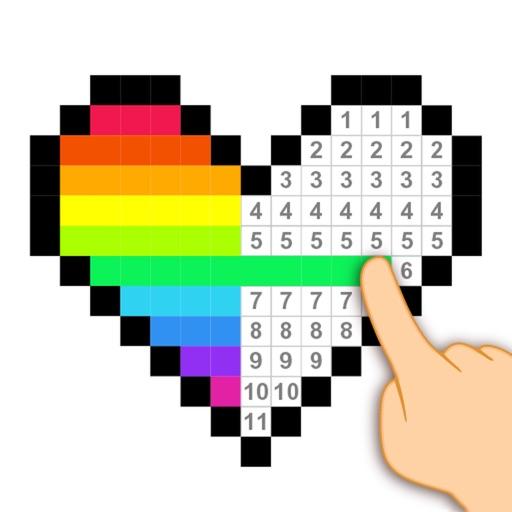Pixel Art - Number Coloring.