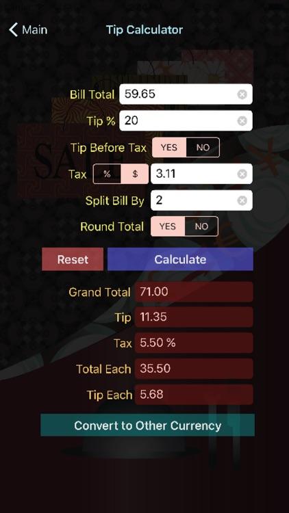 ShopNDineCal-sales and tip cal screenshot-3