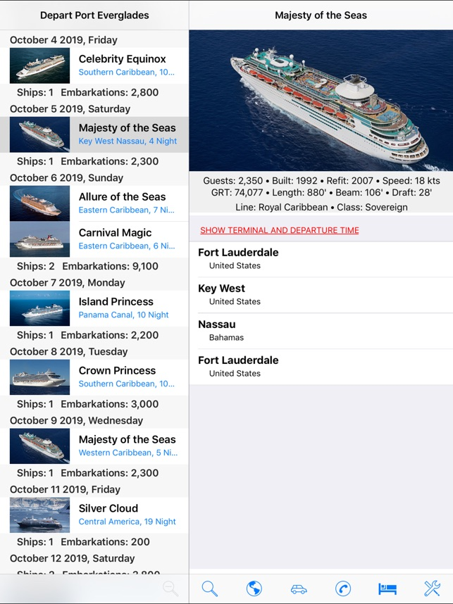 Port Everglades Cruise Schedule 2020.Cruiseschedule Port Everglades On The App Store