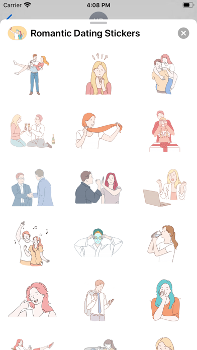 Romantic Dating Stickers screenshot 2