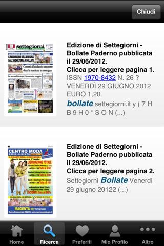 Settegiorni - Bollate Digitale - náhled