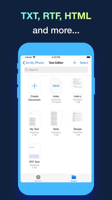 Text Editor. Screenshots