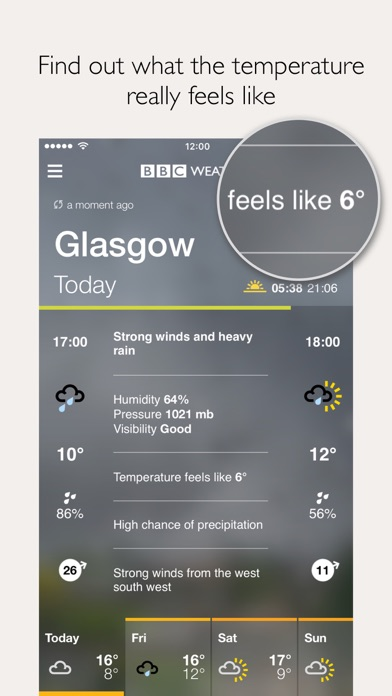 BBC Weather screenshot three