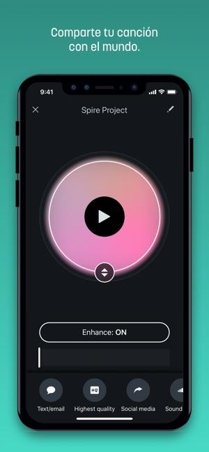 Spire Music Recorder Screenshot