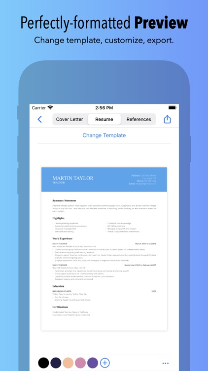 Resume Builder by Nobody