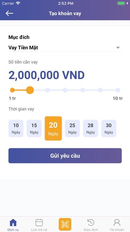 Fiin - Vay tiền, Cho vay tiền