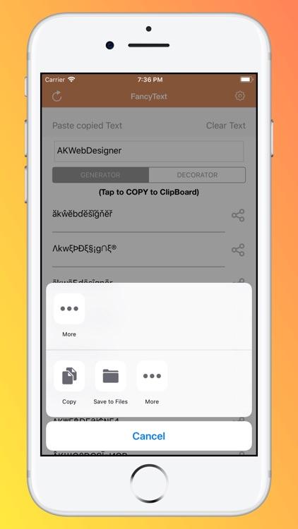 FancyText - Cool, Stylist Text screenshot-3