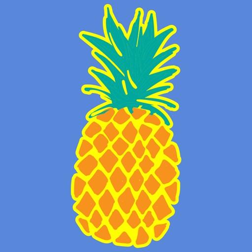 Pineapple Face Emoji Stickers