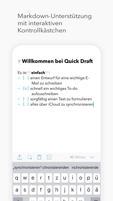 Quick Draft: SchmierblockScreenshot von 3