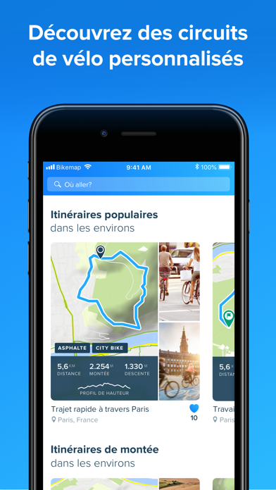 Screenshot #2 pour Bikemap - Carte vélo et GPS