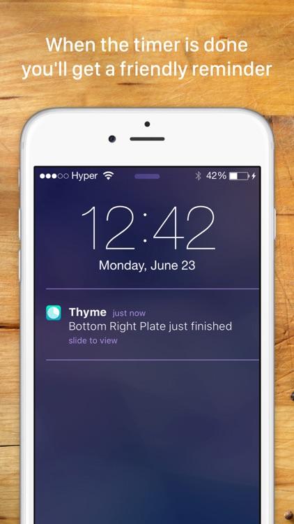 Thyme - A Modern Kitchen Timer screenshot-3