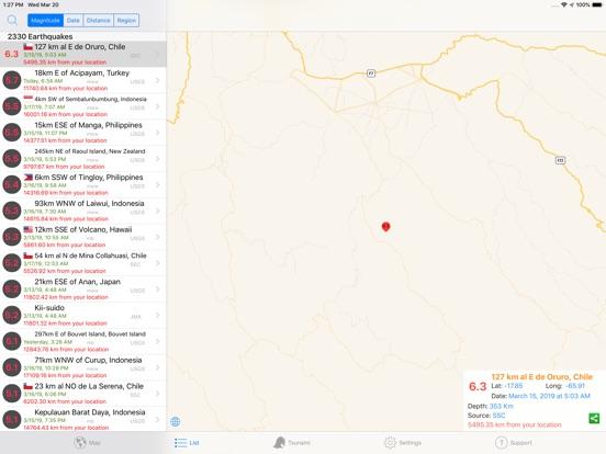 Quake Spotter Screenshots