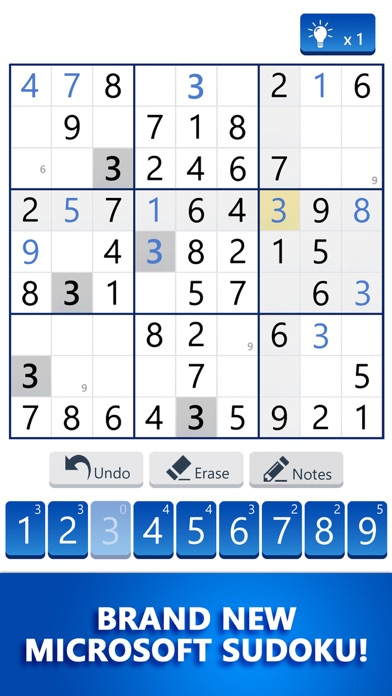 Microsoft Sudoku screenshot 1