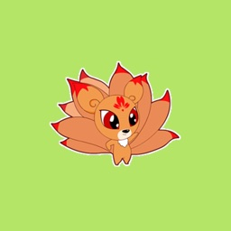 Nine Tailed Fox Stickers
