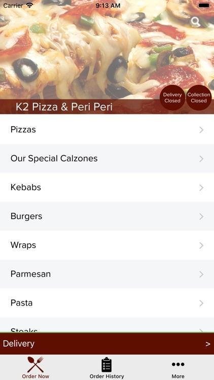 K2 Pizza & Peri Peri