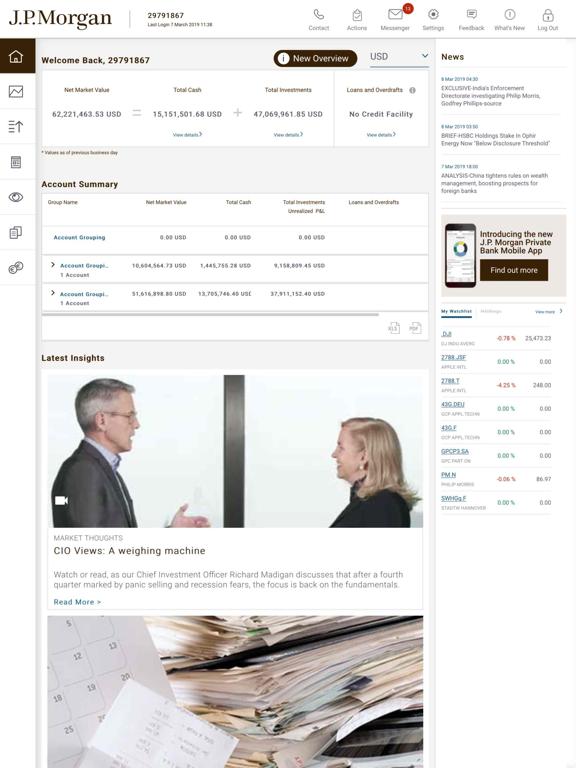 J P  Morgan Private Bank | App Price Drops