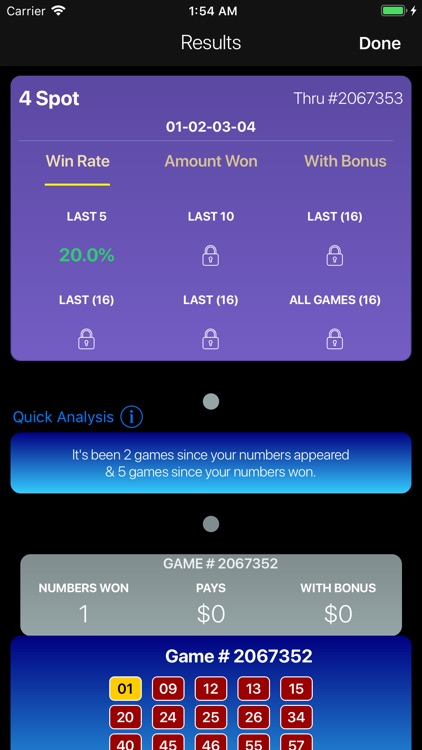 Keno Lotto Pro: Ticket Scanner screenshot-6