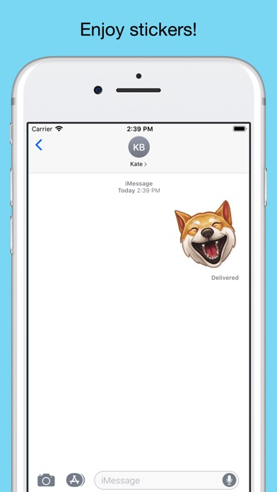 Funny dogs - emoji stickers screenshot 5