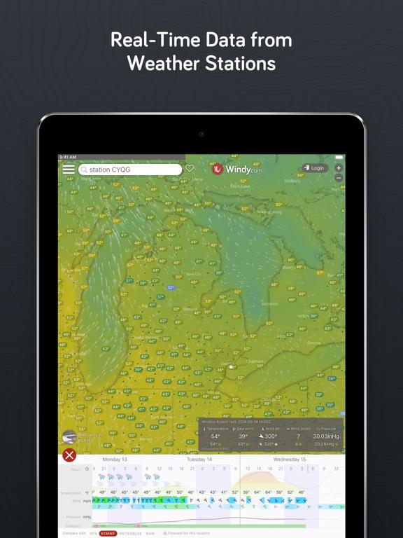 iPad Image of Windy.com