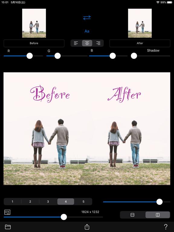 Before->After screenshot 8