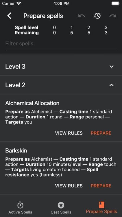 Spell Tracker (Pathfinder 1e)