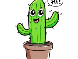 Here are some cute Cactus stickers you can use when chatting with others
