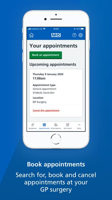 NHS App screenshot three