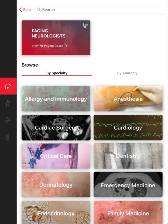 Figure 1 - Medical Cases for Healthcare Professionals screenshot