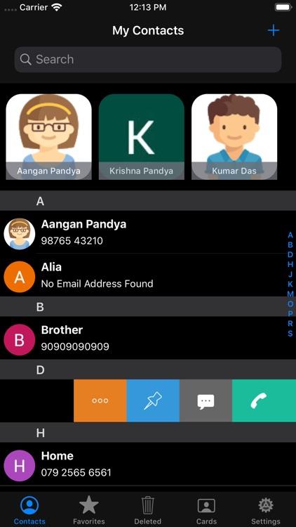 Private Contacts - Phonebook screenshot-4