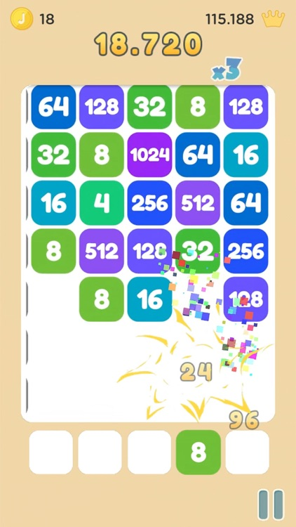 Strike the Tile - Merge 2048 screenshot-4