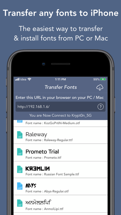 Screenshot #1 pour All Fonts : Install Any Fonts