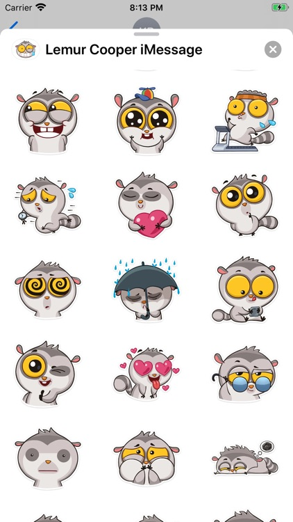 Lemur Cooper Stickers screenshot-3