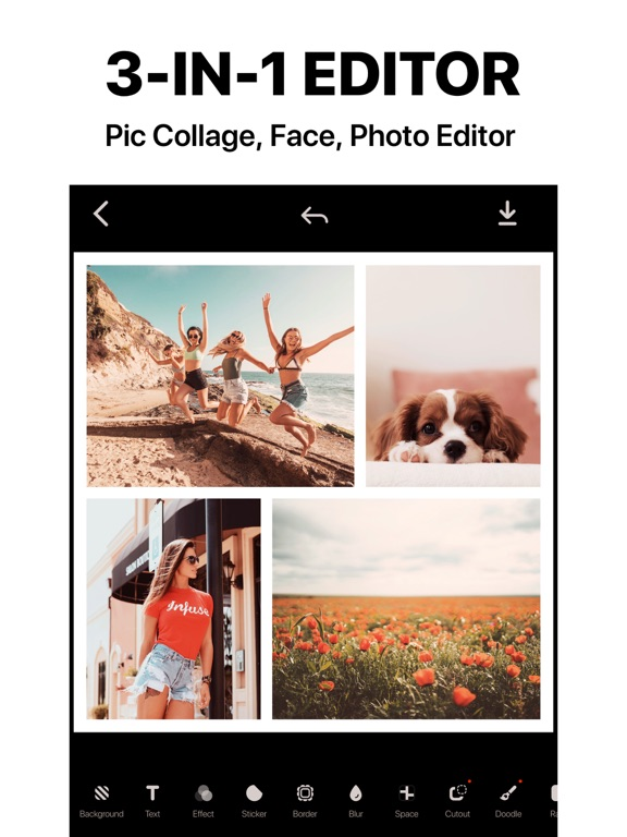 InstaCollage Pro - Pic Frame & Photo Collage & Caption Editor for Instagram screenshot