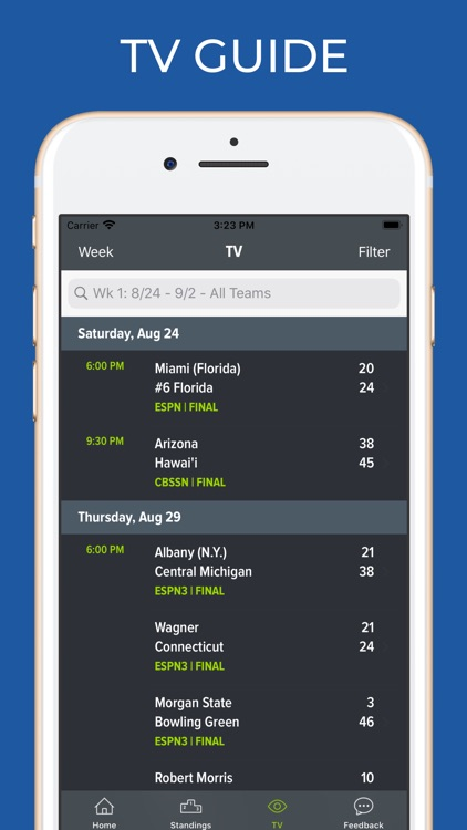 Tennessee Football Schedules screenshot-6
