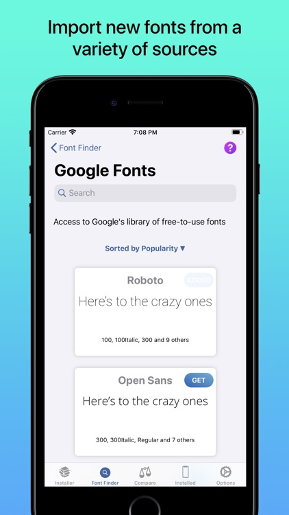 iFont: find, install any font