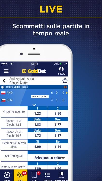 GoldBet Scommesse Sportive screenshot-3