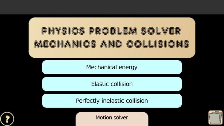 Problem solver: mechanics