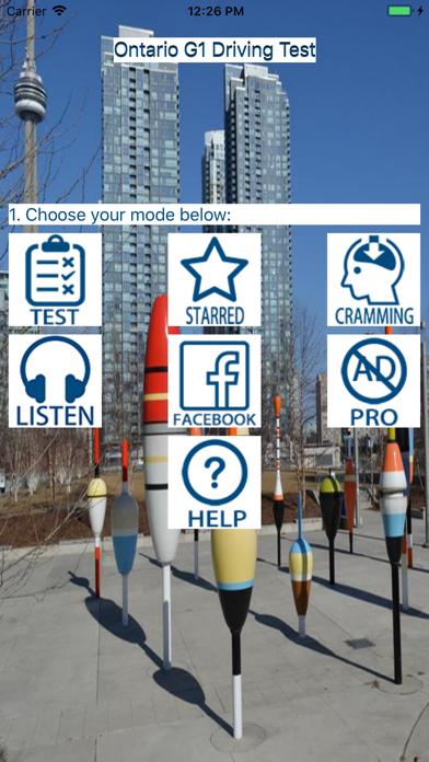 Ontario G1 Driving Test 2020 screenshot one