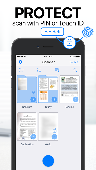 iScanner - PDF Scanner App. Screenshots