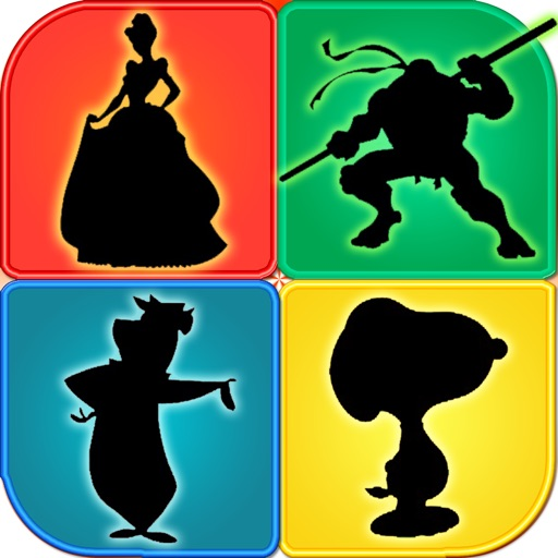 Cartoon Shapes Shadow Quiz Trivia ~ Learn Famous Animation Movie Character Name