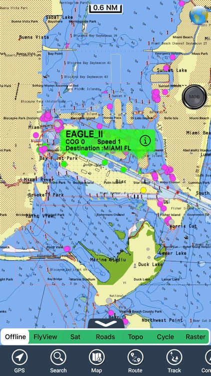 AIS Map : Marine & Lake charts
