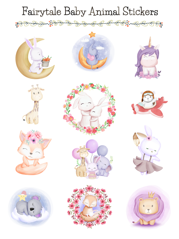 Fairytale Baby Animal Stickers screenshot 6