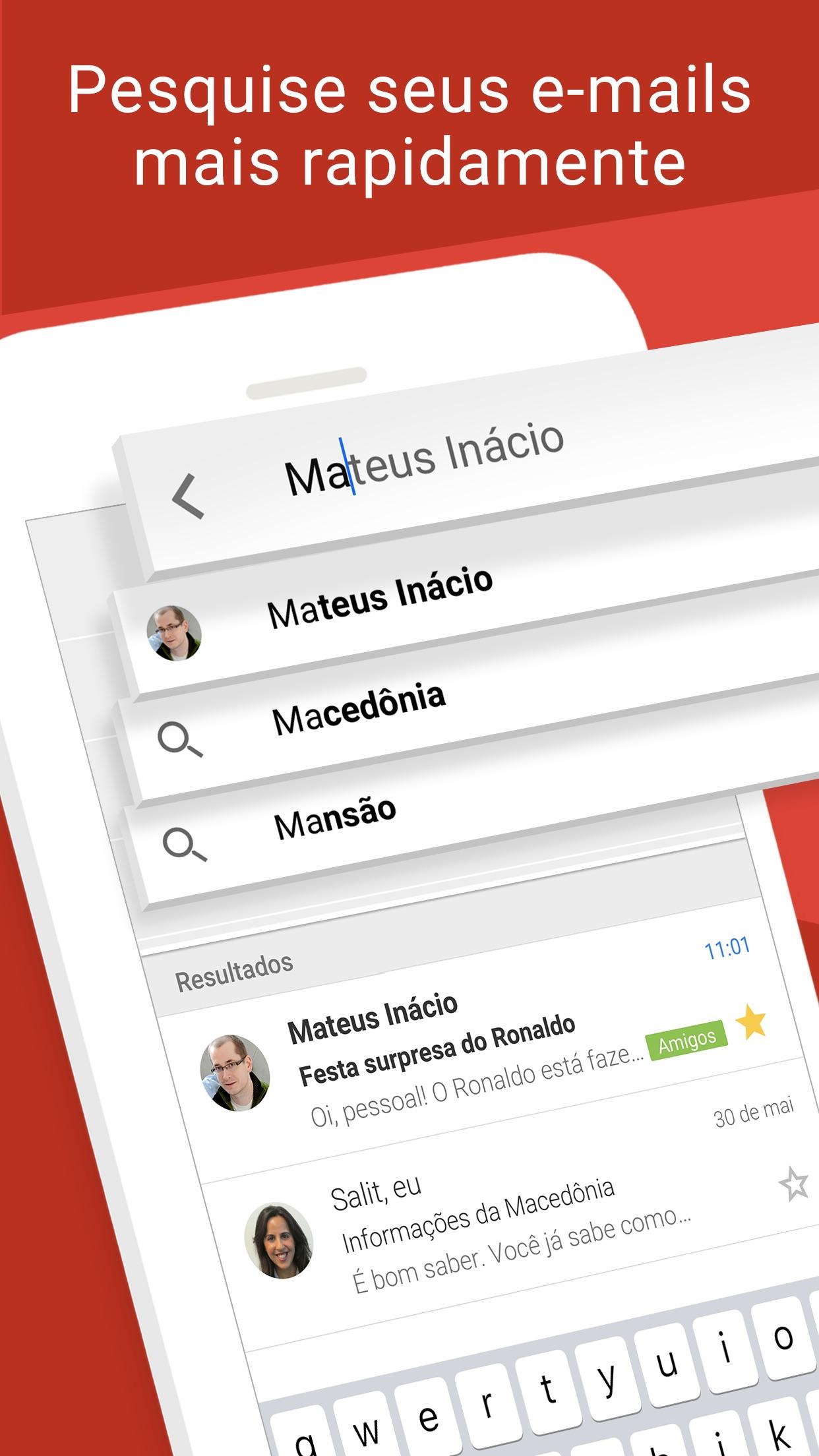 Screenshot do app Gmail: Email do Google