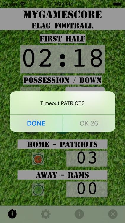 MyGameScore Flag Football screenshot-4