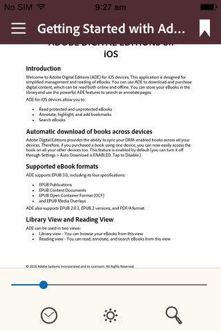 Adobe Digital Editions - náhled