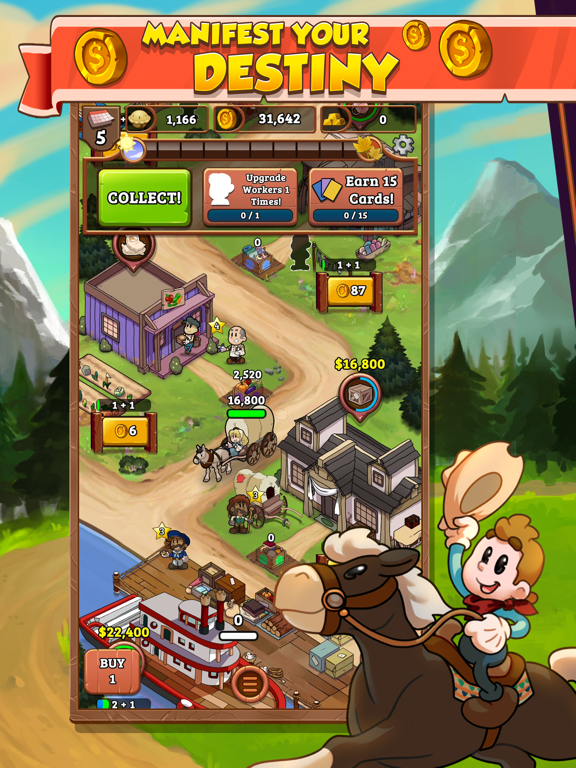 Idle Frontier: Western Tapper на iPad