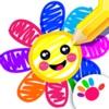 お絵かき 子供 ゲーム ペイント 色ぬり 数字 幼児 塗り絵