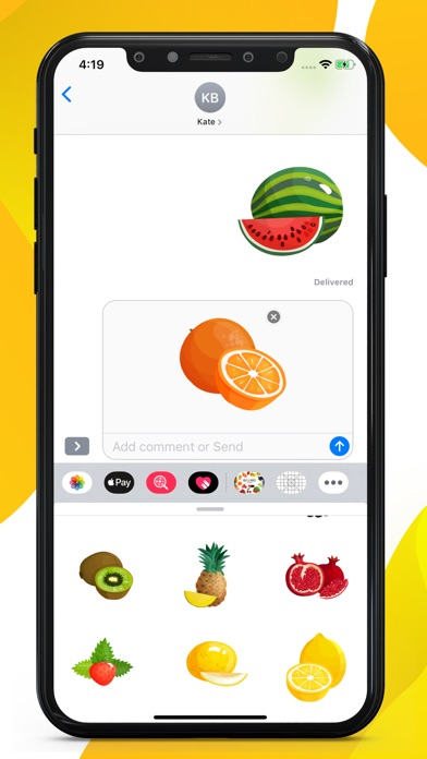 Fruit Delicious Stickers screenshot 3