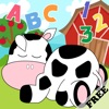 Farm Animals Toddler Preschool FREE - All in 1 Educational Puzzle Games for Kids